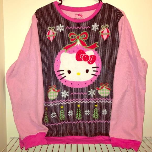 6840fb799 Sanrio Sweaters | Hello Kitty Flannel Holiday Longsleeve Sweater ...